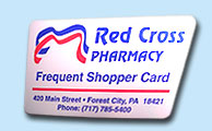 Red Cross Pharmacy Frequent Shopper Card